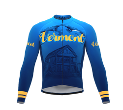 ScudoPro Pro Thermal Long Sleeve Cycling Jersey Vermont USA state Icon landmark identity  | Men and Women