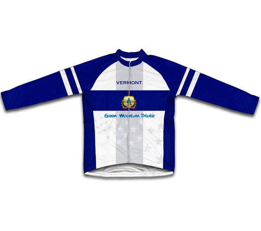 Vermont Flag Winter Thermal Cycling Jersey
