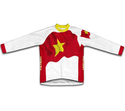 Vietnam Flag Winter Thermal Cycling Jersey