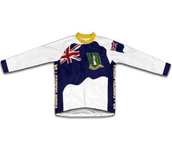 Virgin Islands - UK Flag Winter Thermal Cycling Jersey