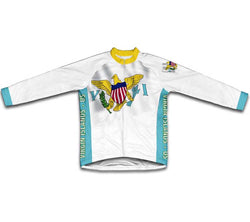 Virgin Islands - US Flag Winter Thermal Cycling Jersey