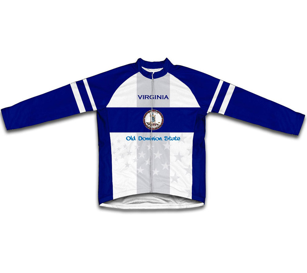 Virginia Flag Winter Thermal Cycling Jersey