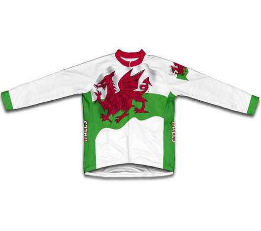 Wales Flag Winter Thermal Cycling Jersey
