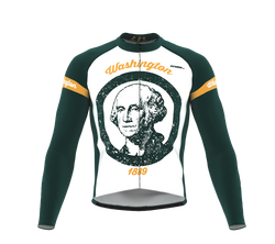 ScudoPro Pro Thermal Long Sleeve Cycling Jersey Washington USA state Icon landmark identity  | Men and Women