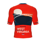 ScudoPro Pro-Elite Short Sleeve Cycling Jersey West Virginia USA State Icon landmark symbol identity  | Men and Women