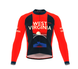 ScudoPro Pro Thermal Long Sleeve Cycling Jersey West Virginia USA state Icon landmark identity  | Men and Women