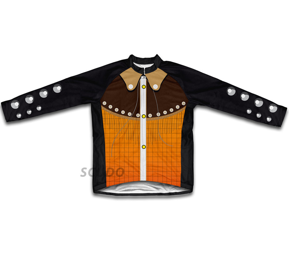 Western Cowboy Winter Thermal Cycling Jersey
