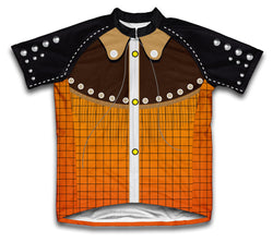 Western Cowboy Short Sleeve Cycling Jersey for Men and Women