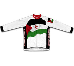 Western Sahara Flag Winter Thermal Cycling Jersey