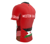 Western Sahara  Full Zipper Bike Short Sleeve Cycling Jersey
