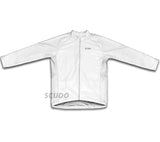 Keep Calm and Bike On White Winter Thermal Cycling Jersey