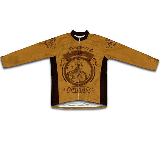 Wild West Bike Winter Thermal Cycling Jersey