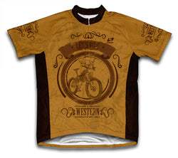 Wild West Bike Short Sleeve Cycling Jersey for Men and Women