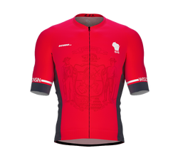 ScudoPro Pro-Elite Short Sleeve Cycling Jersey Wisconsin USA State Icon landmark symbol identity  | Men and Women