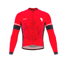 ScudoPro Pro Thermal Long Sleeve Cycling Jersey Wisconsin USA state Icon landmark identity  | Men and Women