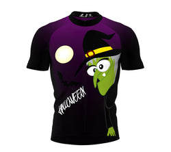 Witch Hallowen Cycling Jersey Short Sleeve for Men and Women