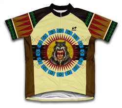 Wolf Headdress Short Sleeve Cycling Jersey for Men and Women
