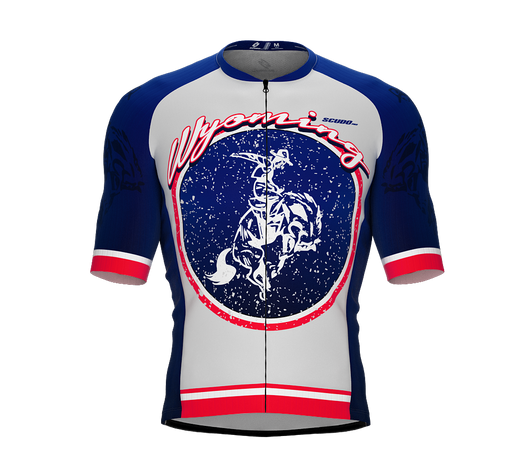 ScudoPro Pro-Elite Short Sleeve Cycling Jersey Wyoming USA State Icon landmark symbol identity  | Men and Women