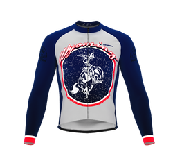 ScudoPro Pro Thermal Long Sleeve Cycling Jersey Wyoming USA state Icon landmark identity  | Men and Women