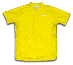 Yellow Short Sleeve Cycling Jersey for Men and Women