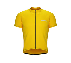Chroma Contrast |  Short Sleeve Cycling Jersey Yellow - Black zip - Blue seam | Men and Women
