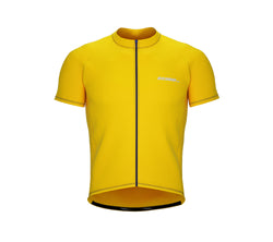 Chroma Contrast |  Short Sleeve Cycling Jersey Yellow - Blue zip/seam | Men and Women