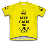 Keep Calm and Ride a Bike Yellow Cycling Jersey