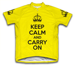 Keep Calm and Carry On Yellow Cycling Jersey