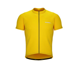 Chroma Contrast |  Short Sleeve Cycling Jersey Yellow - Black zip - Grey seam | Men and Women