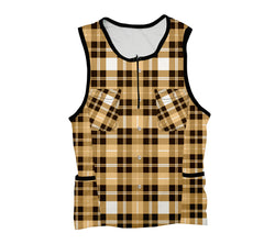 Yellow Plaid Shirt Triathlon Top