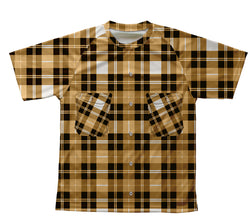 Yellow Plaid Shirt Technical T-Shirt for Men and Women