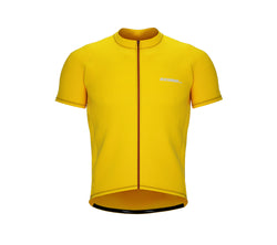Chroma Contrast |  Short Sleeve Cycling Jersey Yellow - Red zip/seam | Men and Women