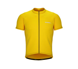 Chroma Contrast |  Short Sleeve Cycling Jersey Yellow - Black zip - Red seam | Men and Women