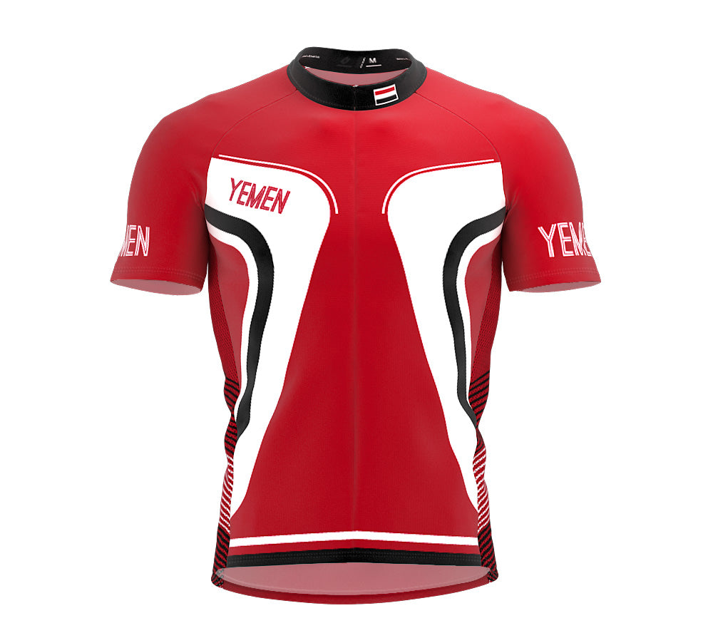 Yemen  Full Zipper Bike Short Sleeve Cycling Jersey