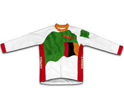 Zambia Flag Winter Thermal Cycling Jersey