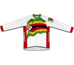 Zimbabwe Flag Winter Thermal Cycling Jersey