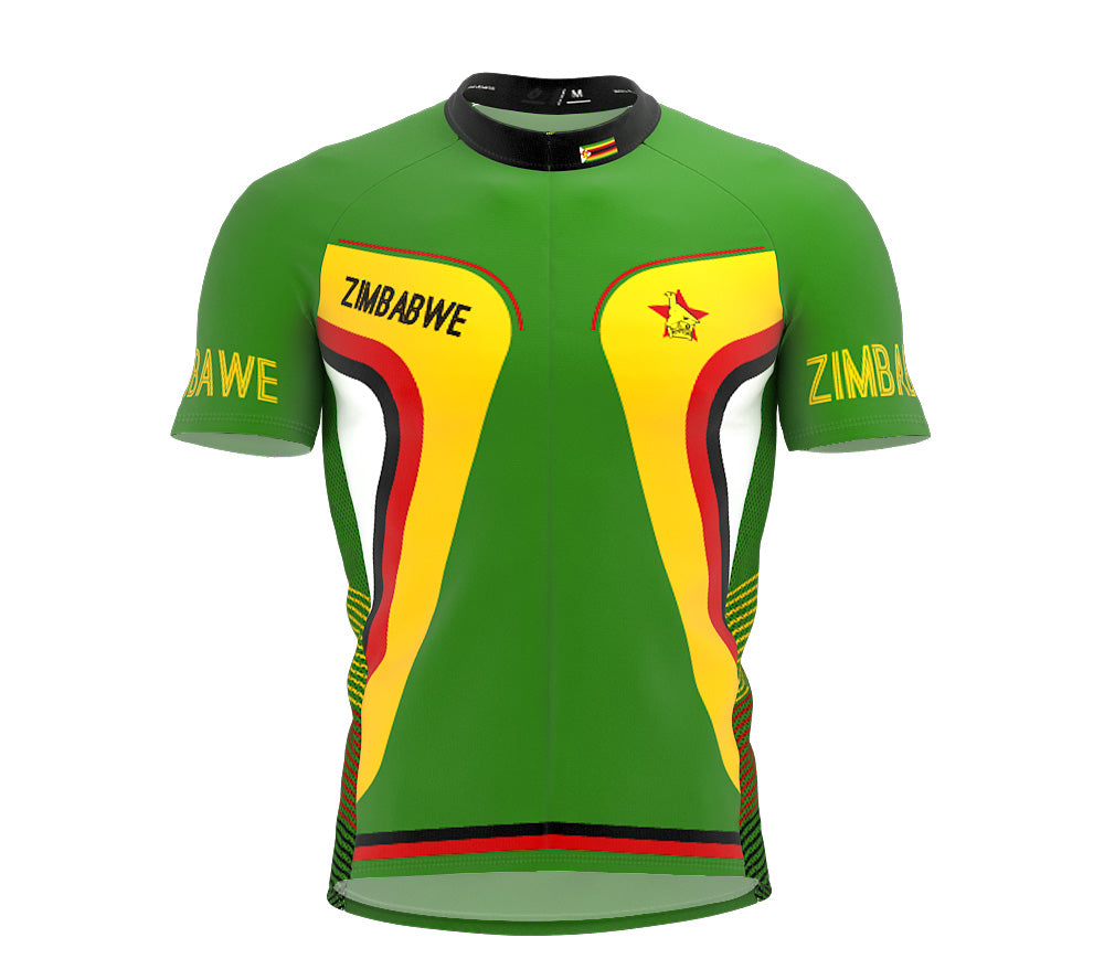 Zimbabwe  Full Zipper Bike Short Sleeve Cycling Jersey