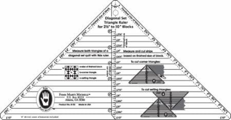 "Full Diagonal Set Triangle Ruler 2.5""-10"""