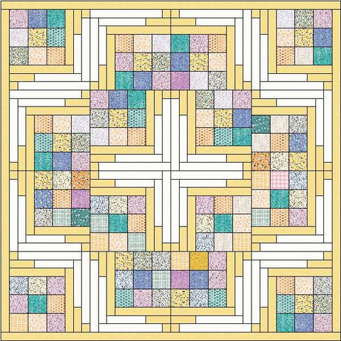 Charmed Steppin Stones - 1930's Block of the Month