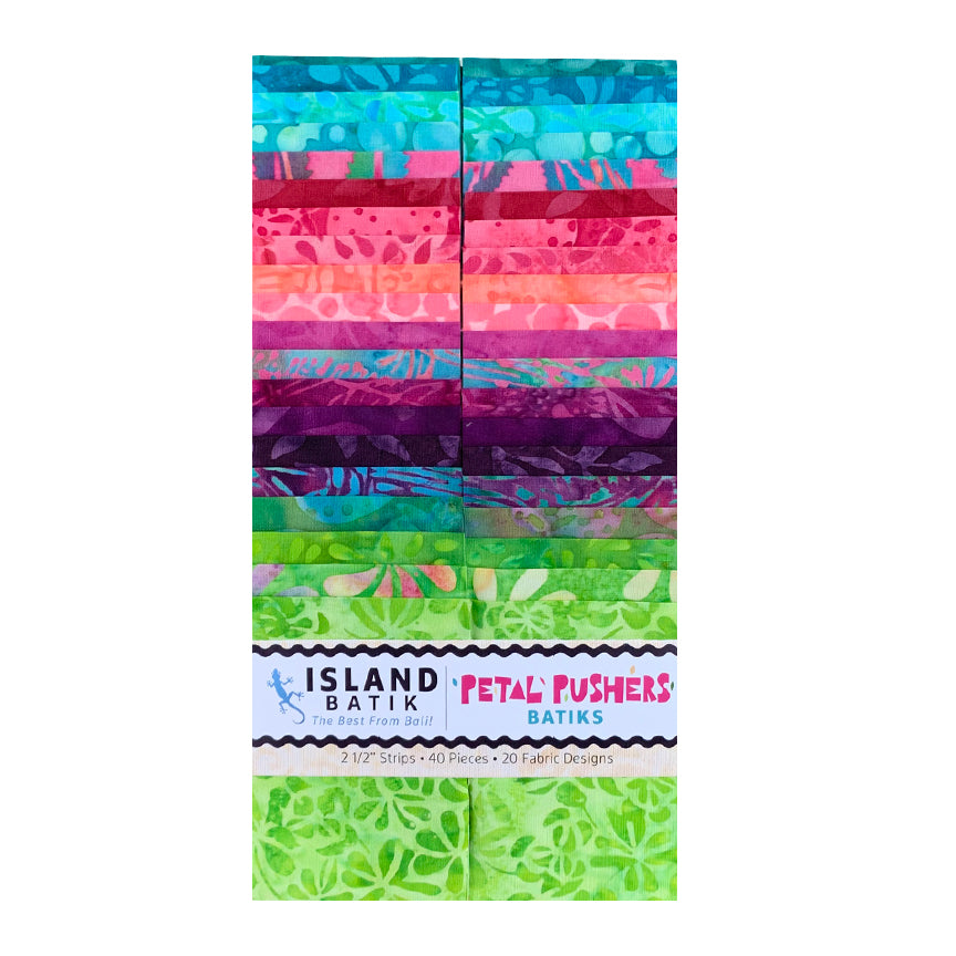 Petal Pushers Batik Strip Set
