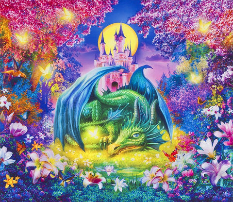 Mystical Dragon Panel
