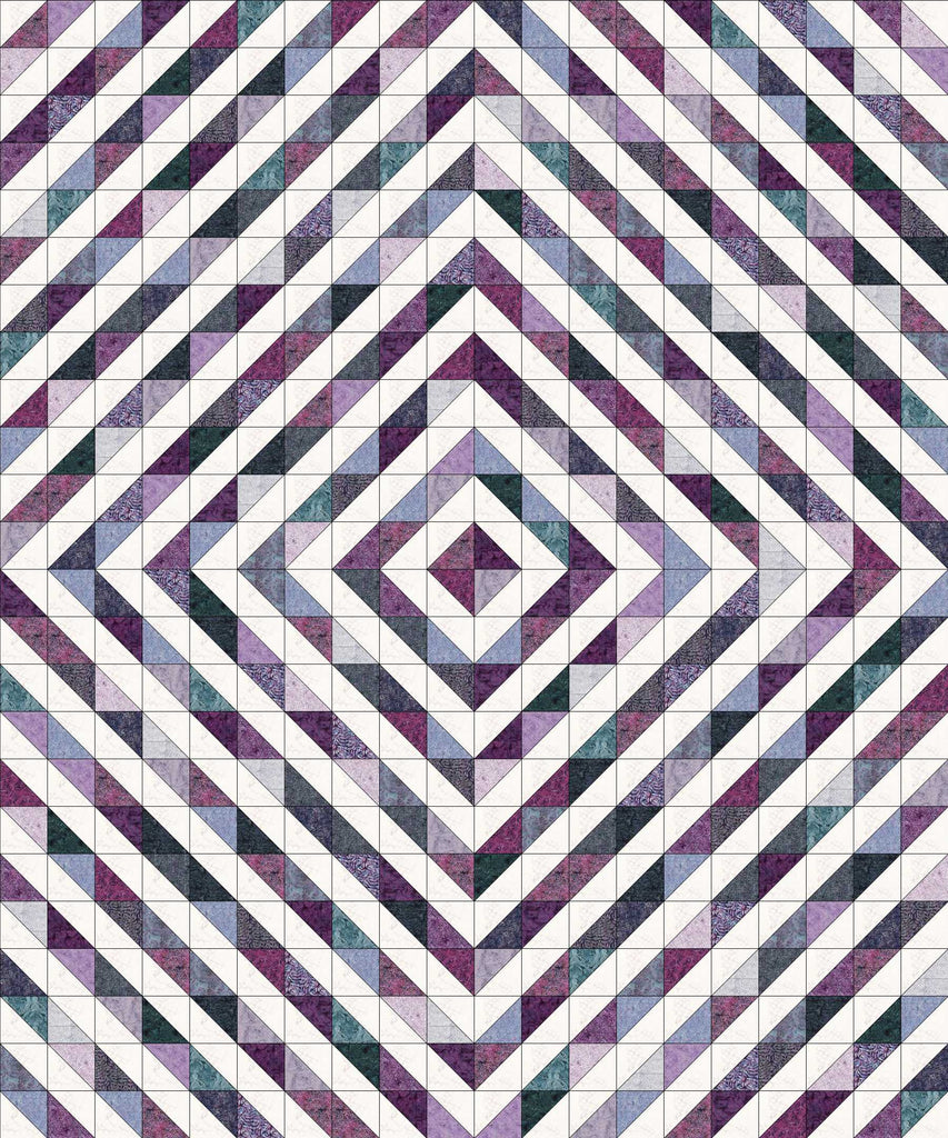 Magical Half Squares- Black Pearl Block of the Month