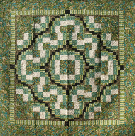 Green Bargello with a Twist