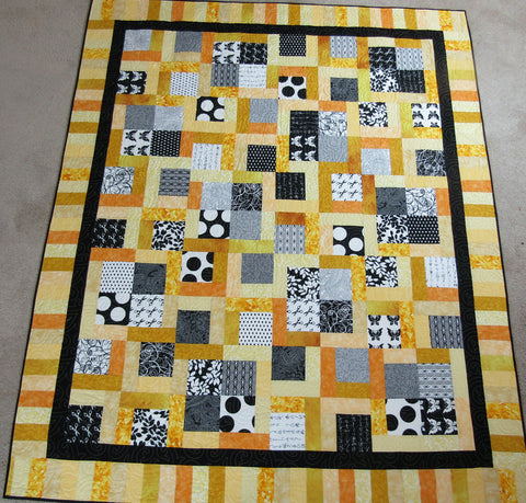 "4 Patch Kiss 63""x74"" Bumblebee"