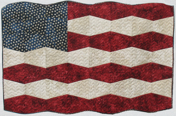 Tumbler Flag Wall Hanging Pre Cut Quilting Around