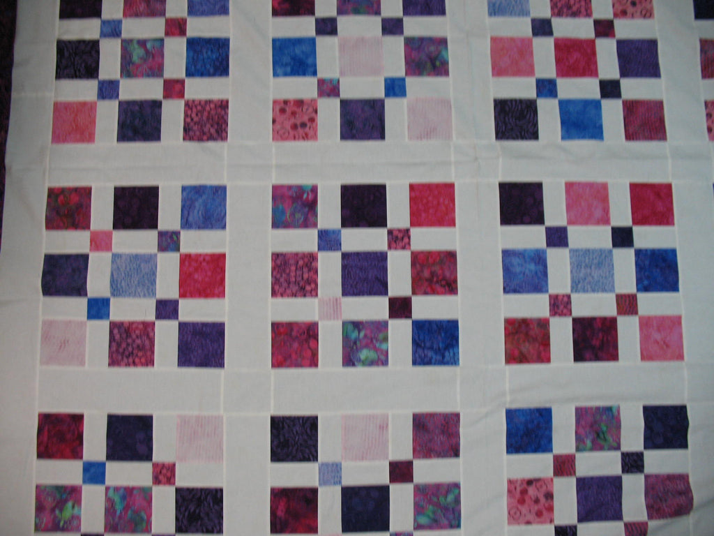"Perfect Squares - Berry Punch 64""x64"""