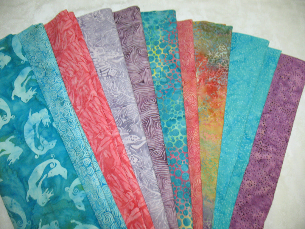 Mermaid Cove Batik Strip Set