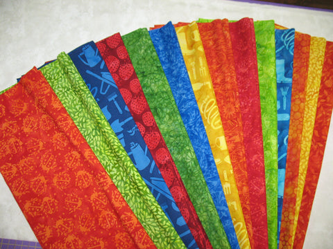 Garden Party Batik Strip Set