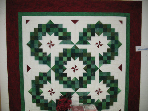 "Ring of Wreaths Christmas Kit 68""x68"" Throw"