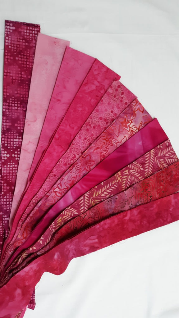 Pink Batiks Strip Set
